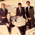 Photo de 1992 des fondateurs Mile Alivojvodic, Jean-Paul Lavigne, Claude Robert et Jacques Robert.
