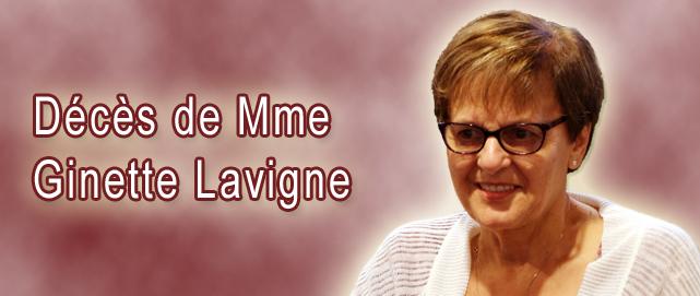 Deces GinetteLavigne Une