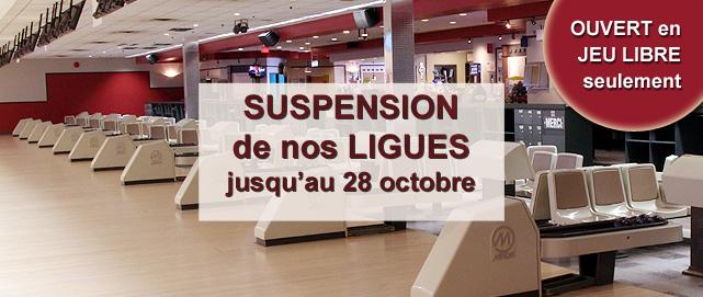 COVID 19 Suspension Ligues